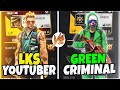 LKS YOUTUBER vs GREEN CRIMINAL | Free Fire telugu | HELLO TELUGU GAMER'S