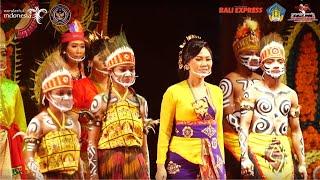 Pergelaran Kesenian Papua Dengan Kesenian Bali