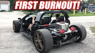 Supercharging Leroy Ep.6 - ROLL CAGE (and First Burnout w/blower)