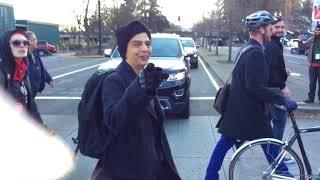 Antifa sprays patriots with pepper spray. Kate steinle rally Portland.
