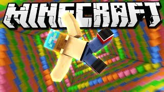 I FELL INTO A RAINBOW! | Minecraft Dropper