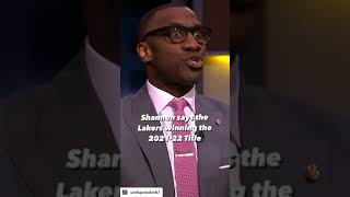 Shannon predicts the Lakers will win the 2021-2022 Title 👑 | UNDISPUTED #shorts