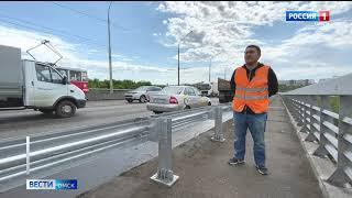 Омские автомобилисты пожаловались в прокуратуру на массовое повреждение колес на Октябрьском мосту