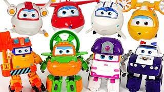 Super Wings transformers Swampy, Astro, Scoop, Zoey, Kim! Defeat octopus monster! #DuDuPopTOY