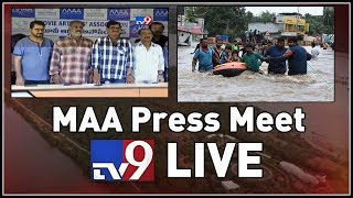 LIVE: MAA Association press meet; cheque for flood-affecte..