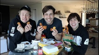 CHICKEN TENDER MUKBANG ft DAVID DOBRIK AND JASON NASH!!