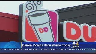 Dunkin' Donuts Menu Cuts Start Monday