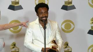 Donald Glover aka Childish Gambino - 2018 Grammys Full Backstage Interview