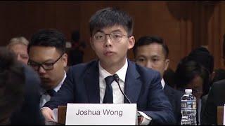 Watch live: Hong Kong activist Joshua Wong testifies to U.S. lawmakers