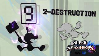 2-Destruction - A Mr. Game & Watch Montage / Combo Video (SSBWiiU)