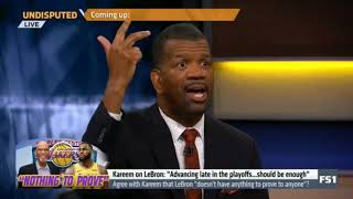 """Undisputed   Agree with Kareem that LeBron """"doesn't have anything to prove to anyone""""? - Rob Parker"""