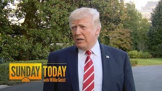 President Donald Trump: Sometimes I'd Like Rex Tillerson 'To Be A Little Bit Tougher' | Sunday TODAY