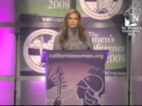 Jennifer Lopez Addresses The Women's Conference 2008