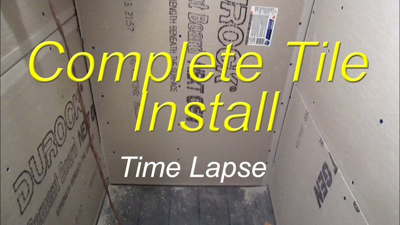 Complete bathroom shower install time lapse start to finish - YouTube