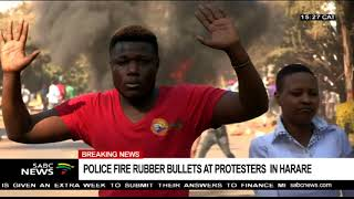 BREAKING NEWS: Protestors clash with police in Harare