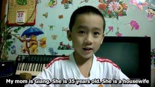 Nguyên Hạo 5 tuổi giới thiệu bản thân bằng tiếng Anh (bản nháp)