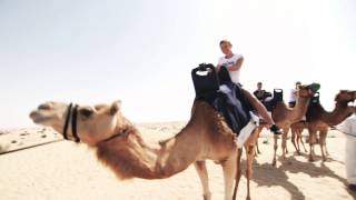 Simona Halep Joins Camel Caravan In Dubai