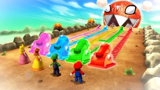 Mario Party 9 Boss Rush - Mario Vs Luigi Vs Daisy Vs Peach (Master Cpu)