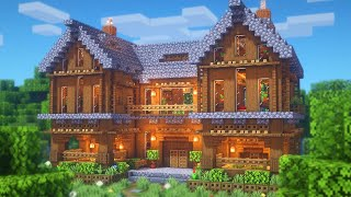 Minecraft | How to Build a Large Spruce Mansion | Large Survival Base Tutorial