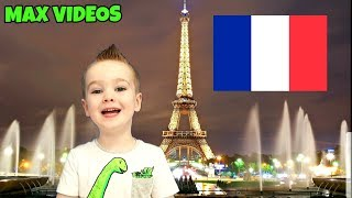 FRANCE, Learn French for Kids! Counting, Numbers, Greetings - MAX VIDEOS