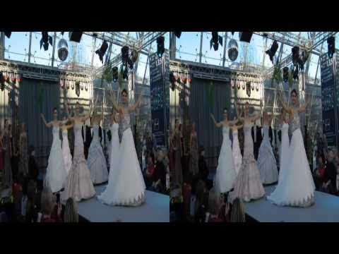 Modenschau 2011 in 3D (wedding fair) catwalk 2 - 3D Video www.3dhochzeitsvideo.de