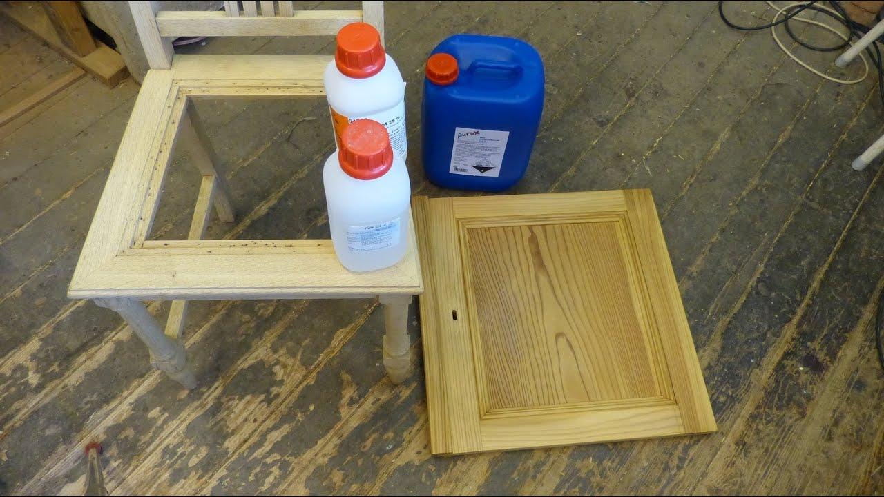 bleichen von holz teil 3 mit wasserstoffperoxid bleach wood with hydrogen peroxide youtube. Black Bedroom Furniture Sets. Home Design Ideas