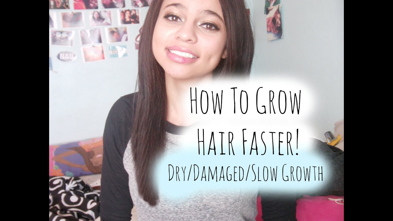 How To Grow Your Hair FASTER! (Damaged/Dry/or Slow Growing