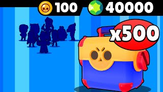 400K ABOS = 40000 GEMMES = 500 MÉGABOÎTES = mon PACK OPENING BRAWL STARS RECORD!
