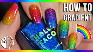 8 Tips for Perfectly Blended Rainbow Gradient Nails!