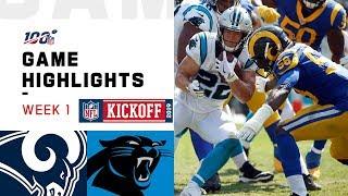 Rams vs. Panthers Week 1 Highlights | NFL 2019