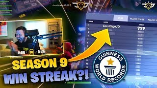 COURAGE SETS SEASON 9 WIN STREAK RECORD?! (Fortnite: Battle Royale)