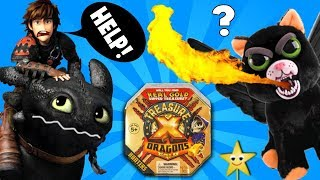 HOW TO TRAIN YOUR DRAGON Toothless Saves TREASURE X DRAGONS GOLD w/ Feisty Pets Surprise Toys