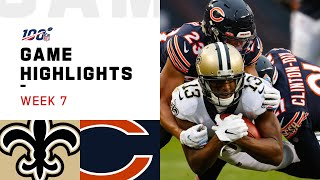 Saints vs. Bears Week 7 Highlights | NFL 2019