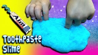 How To Make Toothpaste Slime Recipe! Giant size! No detergent, starch or shampoo