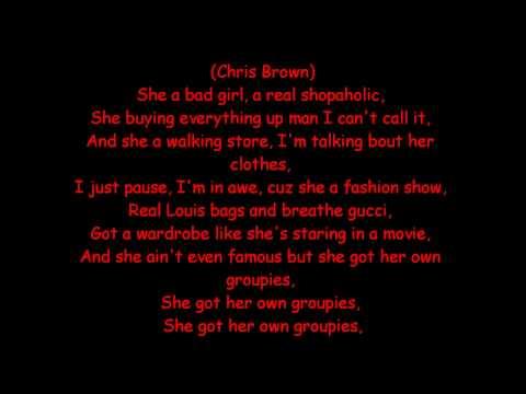 Rihanna ft. Chris Brown-Bad Girl with lyrics