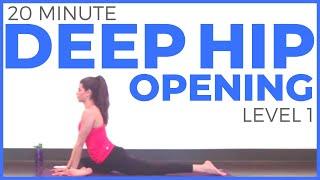 20 Minute Deep Hip Opening Yoga Practice   SarahBethYoga