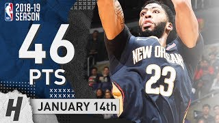 Anthony Davis Full Highlights Pelicans vs Clippers 2019.01.14 - 46 Points, 16 Reb!