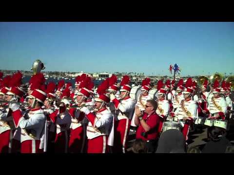 University of Nebraska Marching Band at Holiday Bowl Parade