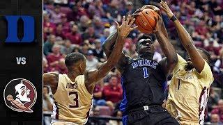Duke vs. Florida State Basketball Highlights (2018-19)