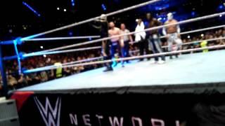 WWE LIVE MÉXICO 2016 SASHA BANKS VS CHARLOTTE