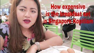 How expensive is the breakfast set in Singapore Kopitiam?