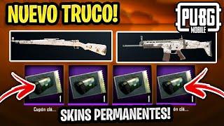 TRUCO SKINS PERMANENTES GRATIS en PUBG MOBILE 🔥 FRAGMENTOS Y TICKETS GRATIS!!