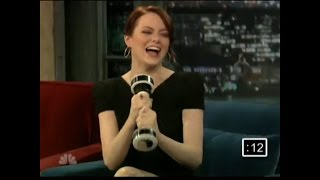 Emma Stone tries out the Shake Weight - Jimmy Fallon September 2010 - Full Interview