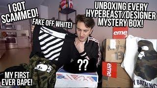 UNBOXING EVERY EBAY HYPEBEAST/DESIGNER MYSTERY BOX! I GOT SCAMMED!!!