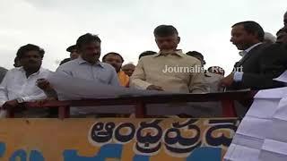 CM Chandrababu Naidu, Gadkari visit Poralavaram Project Latest