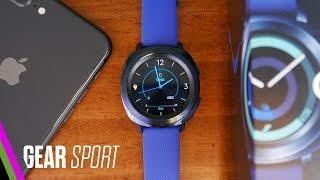 Samsung GEAR SPORT Unboxing and iPhone Setup (pre-review)