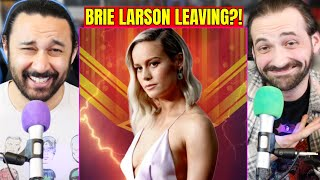Brie Larson Reportedly Leaving Captain Marvel BUT IS SHE REALLY?! (The Marvels)