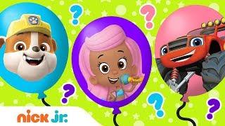 Balloon Popping Fun! Ep. 4 🎈 w/ PAW Patrol, Blaze, Blue's Clues & Bubble Guppies! | Nick Jr.