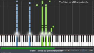 "How To Play ""Safe & Sound"" by Taylor Swift (Piano Tutorial) by LittleTranscriber"