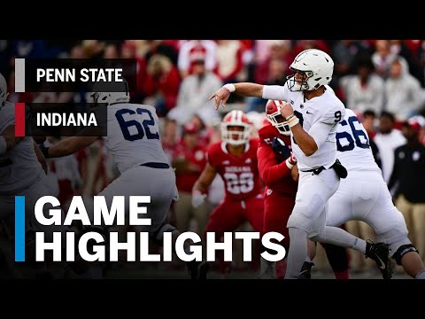 Highlights: Penn State Nittany Lions vs. Indiana Hoosiers   Big Ten Football